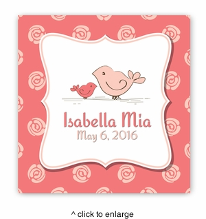 Baby Nursery Canvas Sign - Birdies - click to enlarge