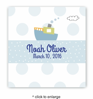 Baby Nursery Canvas Sign - Boat - click to enlarge