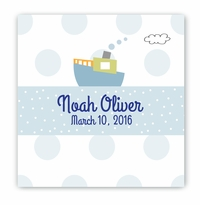 Baby Nursery Canvas Sign - Boat