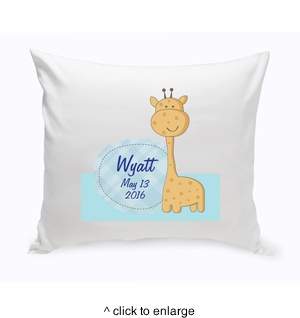 Baby Nursery Throw Pillow  - Baby Giraffe - click to enlarge