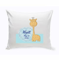 Baby Nursery Throw Pillow  - Baby Giraffe