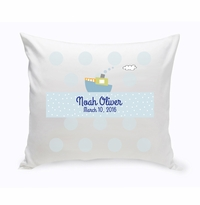 Baby Nursery Throw Pillow - Boat