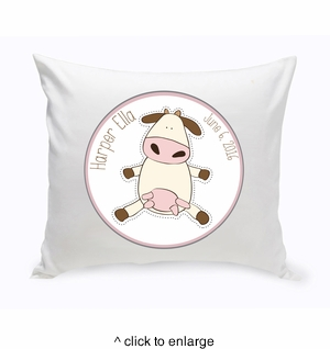 Baby Nursery Throw Pillow - Cow - click to enlarge