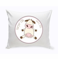 Baby Nursery Throw Pillow - Cow