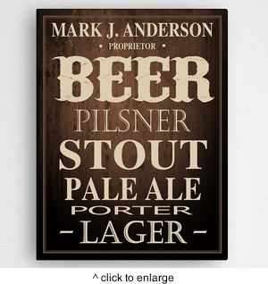 Beer Canvas Print - click to enlarge