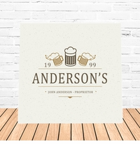 Beer Mugs Canvas Sign
