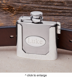 Personalized Belt Buckle Flask - click to enlarge