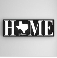 Black Home State Canvas