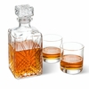 Bormioli Rocco Selecta Square Decanter with Stopper and 2 Low Ball Glass Set - click to enlarge