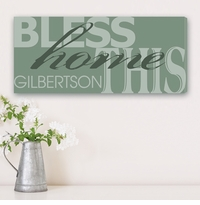 Our Home Personalized Canvas Print
