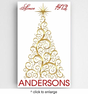 Christmas Tree Canvas Sign - click to enlarge