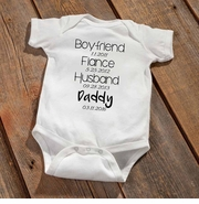 """Daddy To Be"" Baby Announcement Bodysuit"