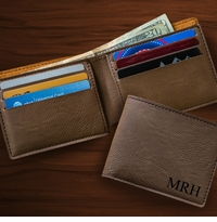Dark Brown Leatherette Wallet