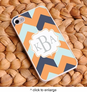 """Fabulous Fashionista"" Chevron iPhone Case - click to enlarge"