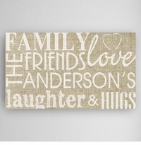 Family & Friends Canvas Sign