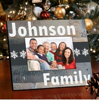 Family Snowflakes Picture Frame - Classic Snowflakes