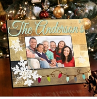 Family Snowflakes Picture Frame -  Lights