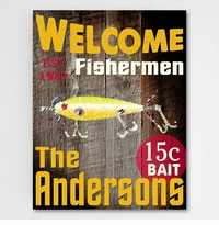 Fishermen Canvas Sign
