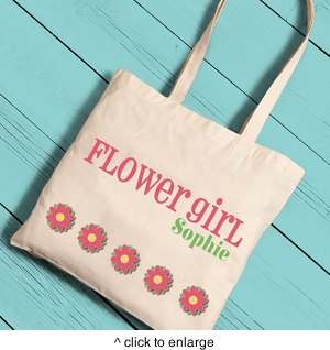 Flower Girl Canvas Tote  - click to enlarge