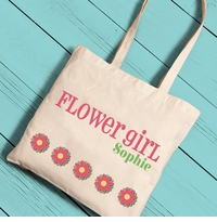 Flower Girl Canvas Tote