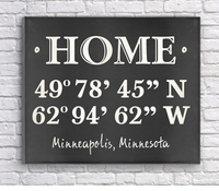 Home Coordinates Canvas Print