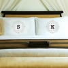Initial Motif Couples' Pillowcases - click to enlarge