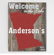 Lake House State Canvas Sign