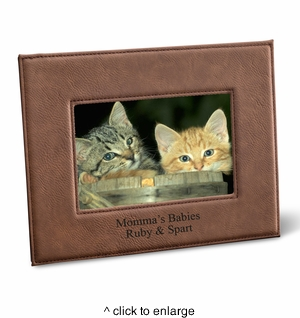 Leatherette 5x7 Picture Frame - click to enlarge