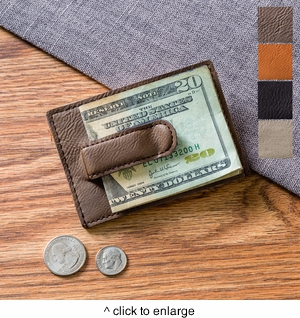 Leatherette Money Clip & Wallet - click to enlarge