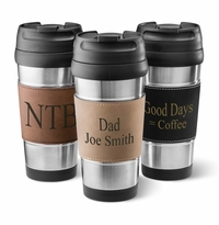 Leatherette Wrapped Stainless Steel Tumbler
