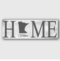 Marble Home State Canvas