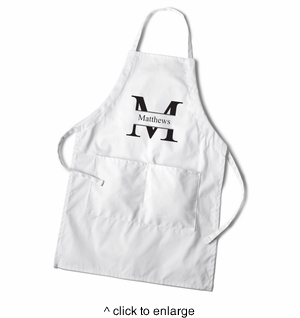 Men's White Apron - click to enlarge