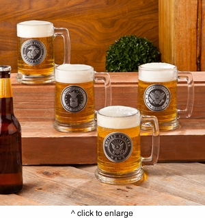 Personalized Military Emblem Beer Steins - click to enlarge