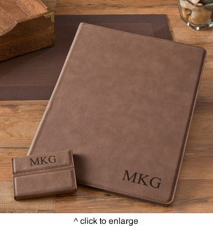 Mocha Portfolio & Business Card Case Set - click to enlarge