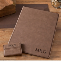 Mocha Portfolio & Business Card Case Set