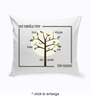 Modern Family Tree Throw Pillow - click to enlarge