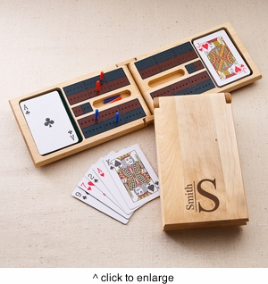 Monogrammed Cribbage Game - click to enlarge