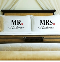 NEW Couples Mr. & Mrs Pillow Case Set