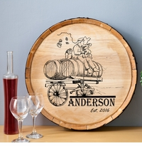 NEW Wine Barrel Home Decor Sign - Wagon