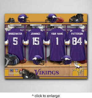 NFL Locker Room Canvas Prints - click to enlarge