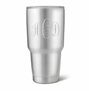 Personalized 30 oz. Stainless Steel Double Wall Insulated Tumbler - Interlocking Monogram