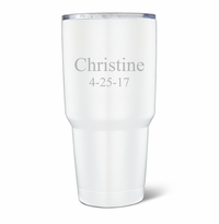 Personalized 30oz. White Double Wall Insulated Tumbler
