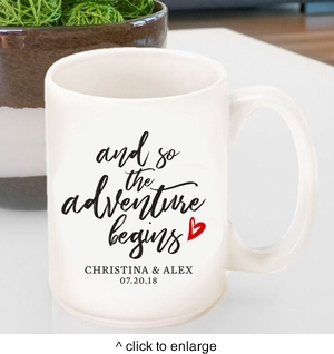 Personalized Adventure Coffee Mug - click to enlarge
