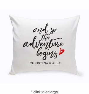 Personalized Adventure Throw Pillow - click to enlarge
