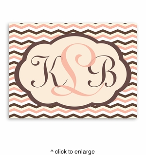 Personalized Baby Chevron Canvas Sign - click to enlarge