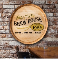 Personalized Barrel Top Sign