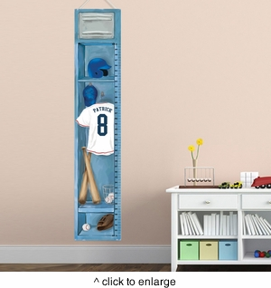 Personalized Baseball Height Chart - click to enlarge