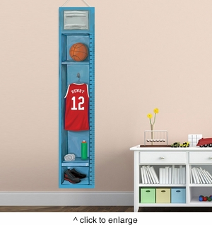 Personalized Basketball Growth Chart - click to enlarge