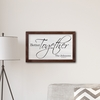 """Personalized Better Together Modern Farmhouse 14"""" x 24"""" Canvas Sign - click to enlarge"""