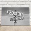 Personalized Black and White Street Sign Intersection Canvas - click to enlarge